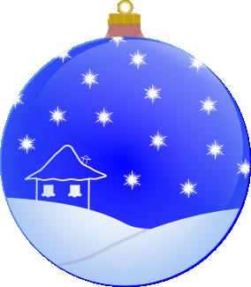 Weihnachtsbaumkugel blau