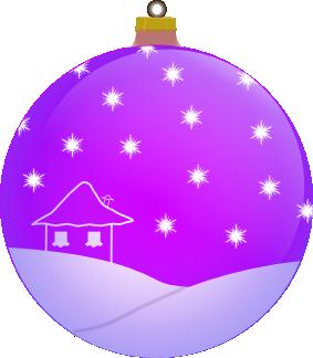 Weihnachtsbaumkugel violett