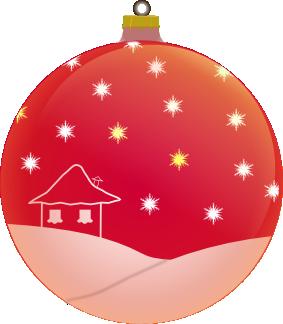 Weihnachtsbaumkugel weinrot