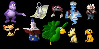 Bonzi,Clippy,F1,Genie,Genius,Links,Merlin,Peedy,Rocky,Rover