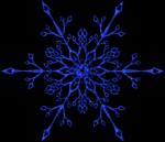 Grafiken von Schneekristallen